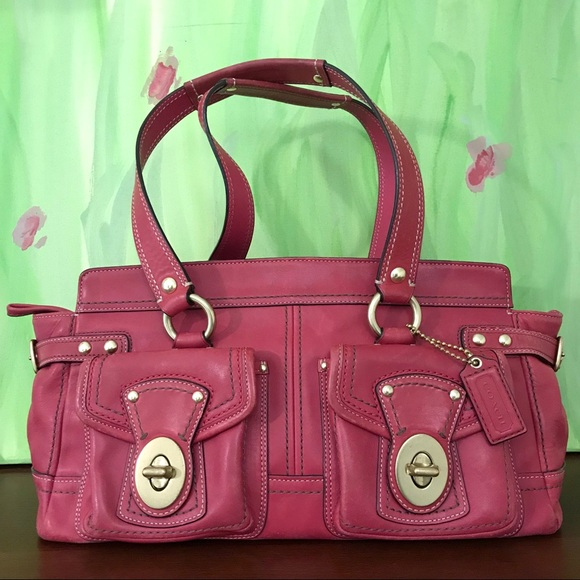 Coach Handbags - Coach Vachetta Raspberry Satchel